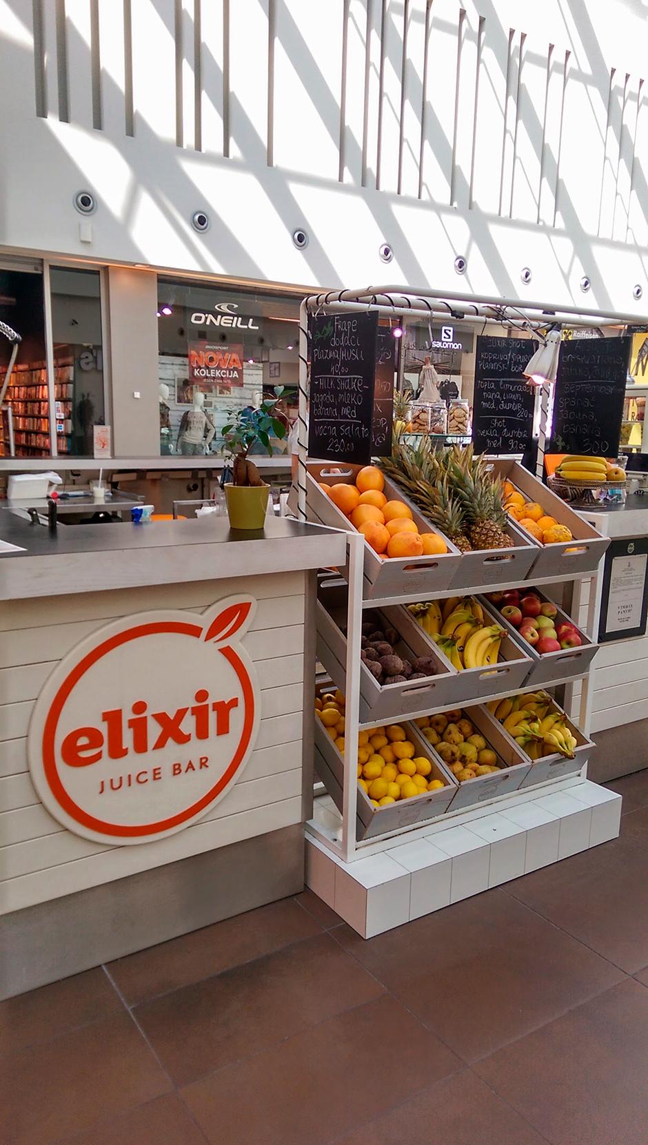 Elixir, Juice & vitamin bar | Unibrand